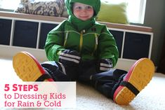 We enrolled our son in a completely outdoor preschool this year.  That's 3 1/2  hours outside in a city where it rains 9 months a year!  This is a post on the 5 fail-proof steps we've learned to keep him warm, comfy and having fun. Bonus: my version of a stop-motion video :).