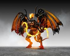 LEGO Lord Of The Rings Balrog by TooMuchDew, via Flickr