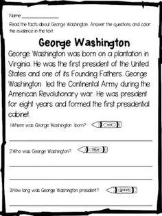 George Washington:George Washington Close Reading - This George Washington…
