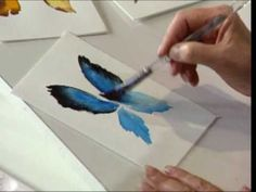 watercolor butterfly how-to- AMAZING - QUICK - You have an AWESOME BUTTERFLY !!!! Watch video. :) Artist - Susan Scheewe
