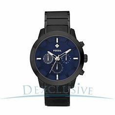 Fossil Dress Plated Stainless Steel Watch Black Fossil. $74.95. Luminous Hands. Black Dial With 3 hands. 165 Feet / 50 Meter Water Resistant. Hour, Minute and Second & Date Functions. Chronograph