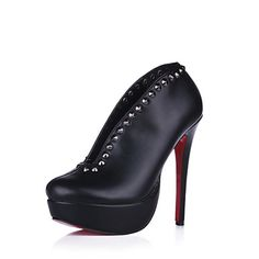 Leatherette Stiletto Heel Ankle Boots Party / Evening Shoes With Rivet  USD $ 99.99 |Fashion Design Shoes|
