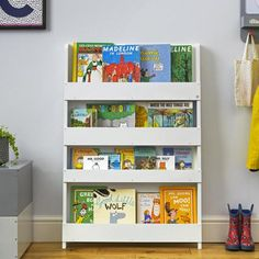 Shop for Tidy Books Kid's Handmade Wooden Bookshelf in Water Lacquer Finish - Pale Grey. Get free delivery On EVERYTHING* Overstock - Your Online Furniture Outlet Store! Bookshelves Kids, Bookcase Shelves, Bookshelf Ideas, Book Shelves, Childrens Bookcase, Tidy Books, Grey Wood, Staying Organized, Coloring For Kids