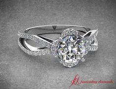 Calyx Charm Ring #wedding #engagement #bride