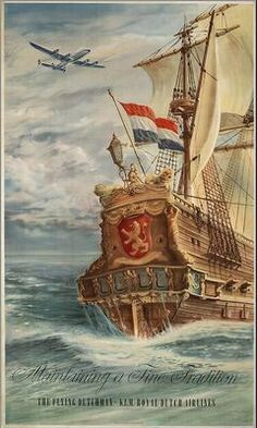KLM Royal Dutch Airlines. Maintaining a fine tradition. The Flying Dutchman KLM. Ca. 1945-1954.