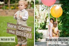 9 Wedding Trends That Need To Give It Up To The New Cool Kids In Class   Free the kids up and play into their inner child with oversized balloons http://storyboardwedding.com/9-wedding-trends-the-new-cool-kids-in-class/