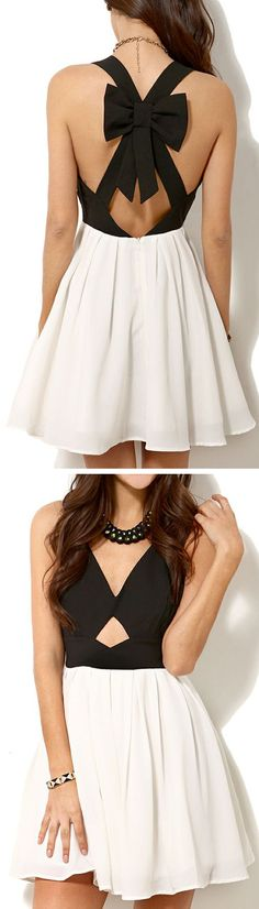 Criss Cross Back Bow Dress ღ