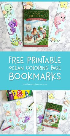 Free Printable Ocean Coloring Page Bookmarks For Kids | Boys and girls will love coloring in these ocean animal bookmarks this summer!     #coloring #kidscrafts #craftsforkids #ideasforkids #kidsandparenting #earlychildhood #kids #freeprintable #ocean