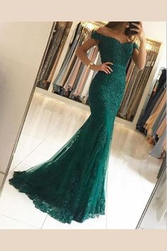 dark green lace prom dresses,off the shoulder evening gowns,emerald green prom dress,mermaid prom dresses 2018 - pageant dresses Mermaid Prom Dresses Lace, Beaded Prom Dress, Cheap Prom Dresses, Prom Party Dresses, Pageant Dresses, Lace Mermaid, Beaded Lace, Long Dresses, Dress Lace