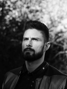 Olivier Giroud poses for the Arsenal Magazine #hot #arsenal #beard #frenchie