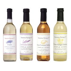 Simple Syrup Collection by Sonoma Syrup Co. Would love to try a drink with a little of that lavender syrup...