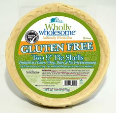 """Introducing our 1st ever gluten-free product: the 9"""" Gluten Free Pie Shell! This new frozen, ready-to-bake product will be available early Summer 2012 at select all natural & grocery stores across the country."""