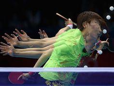 'Ping Pong' in the Matrix (atleta chinesa Ning Ding)