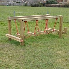 Popular Diy Playground Design Ideas To Make Your Kids Happy 49 Kids Outdoor Play, Outdoor Play Spaces, Kids Play Area, Backyard For Kids, Outdoor Toys, Kids Room, Backyard Games, Outdoor Games, Backyard Landscaping