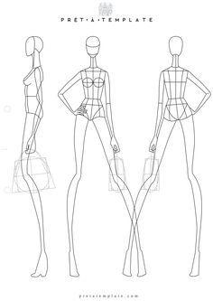 Woman body figure fashion template