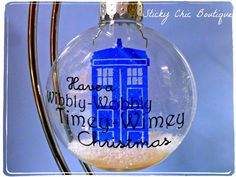 Doctor Who TimeyWimey TARDIS Christmas tree by StickyChicBoutique, $18.00