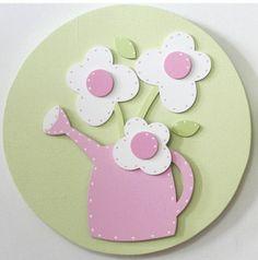 Quadros Regador Rosa - O Canto das Artes - Artesanato com Design
