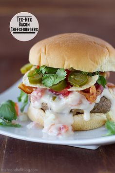 Tex-Mex Bacon Cheeseburgers