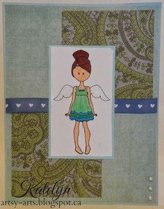 Angel, Handmade Card by Katelyn