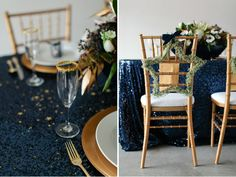 La Tavola Fine Linen Rental: New York Midnight Blue