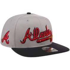 Atlanta Braves Script 2 Tone Captain Snapback Adjustable Cap by '47 - MLB.com Shop