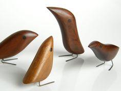 4 Danish vintage birds