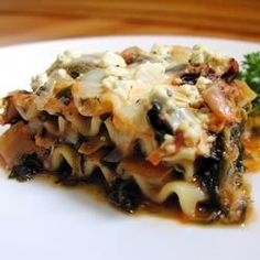 "Artichoke Spinach Lasagna | ""I have made this recipe now several times, and it always comes out perfect. Even people who hate spinach love this recipe."""