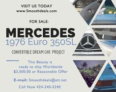 1976 Mercedes Benz European 350SL Convertible Roadster for sale by Owner - Gardena, CA | OldCarOnline.com Classifieds
