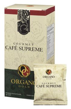 Organo Gold's Gourmet Café Supreme combines the power of Ginseng and Certified authentic Organic Ganoderma, for a smooth latte blend perfect for coffee drinkers looking for a natural lift to their day.  Visit: www.sexytastycoffee.organogold.com