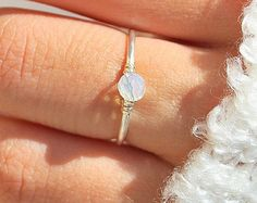 Marble RingEngagement Ring Solitaire Ring Gift for by TinyBox12
