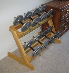 Homemade dumbbell rack? - Bodybuilding.com Forums