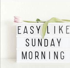 Easy Like Sunday Morning. Hier hoort een liedje bij...!