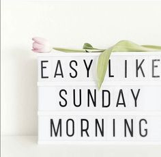Easy Like Sunday Morning.                                                                                                                                                                                 More
