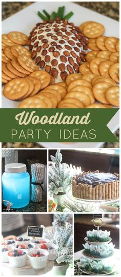 What a lovely winter woodland first birthday party! Fun themed food ideas, too! See more party planning ideas at CatchMyParty.com!