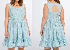 NWT TorridDress 20 2x Blue Alice In Wonderland Through Looking Glass Disney NEW #Torrid #TeaDress #SummerBeach