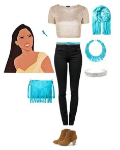 """""""Pochahontas in high school"""" by cyphbeth on Polyvore"""