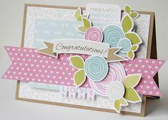 Simular feel to design as previous card pinned  Gretchen McElveen_Congratulations card