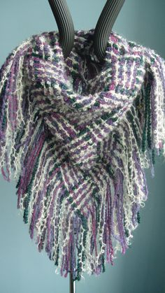 Handwoven Scarf Triangle Woven Shawl Cowl by barefootweaver, $78.00