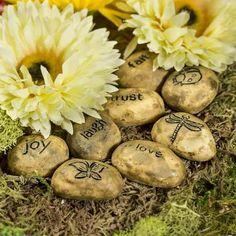 Brown Embellished Inspirational Stones