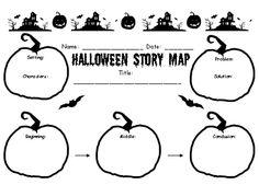 Halloween Creative Writing Lesson Plans Story Map Printable Worksheet