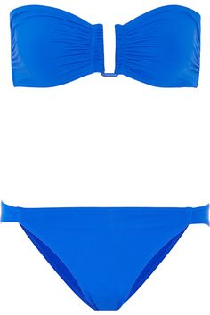 Eres' bikini is part of the 'Les Essentiels' collection - a line of timeless swimsuits that are the brand's signature. Crafted from smoothing and sculpting peau douce fabric, this set has a supportive bandeau top and flattering low-rise briefs that offer just the right amount of coverage. The bright azure hue complements all skin tones.