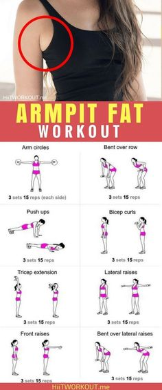 Building muscle in the chest, back shoulders and arms can drastically change to look of your armpit, as can reducing overall fat storage. Armpit Workout, Arm Pit Fat Workout, Toned Legs Workout, Lose Fat Workout, Thigh Toning Exercises, Toning Workouts, Armpit Fat, 30 Day Fitness, Gym Fitness