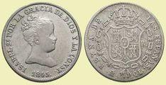 Real - 10 Céntimos de Escudo. Madrid, 1845