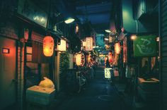 Night photographs in Tokyo's Back Alleys by Masashi Wakui
