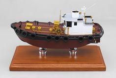 A recenlty completed tug boat model Tanker Ship, Oil Platform, Train Truck, Model Maker, Model Art, Tug Boats, Architectural Models, Play Food, Transportation Design