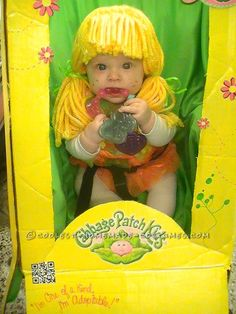 Cutest Cabbage Patch Doll for a Baby in a Stroller Costume… Coolest Halloween Costume Contest