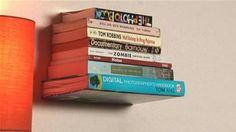 Gör en egen svävande bokhylla. Video.
