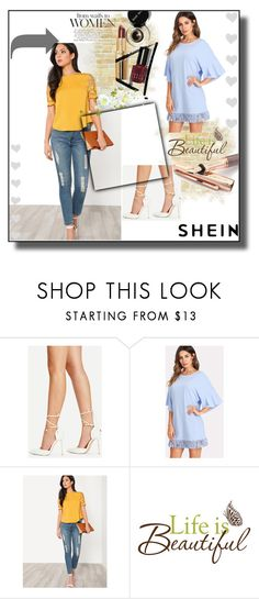 """SHEIN 2/10"" by nimeda ❤ liked on Polyvore featuring Fountain, Wall Pops!, like, dress and shirt"