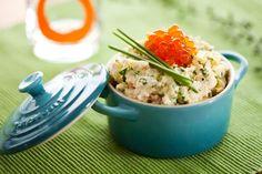 Un desayuno muy gourmet: Huevos a las finas hierbas y salmón en mini cocotte de @Le Creuset MX: http://on.fb.me/19mJD5T