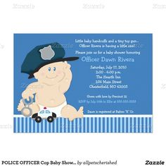 31 best police themed baby shower images on pinterest police baby police officer cop baby shower invitation 5x7 filmwisefo